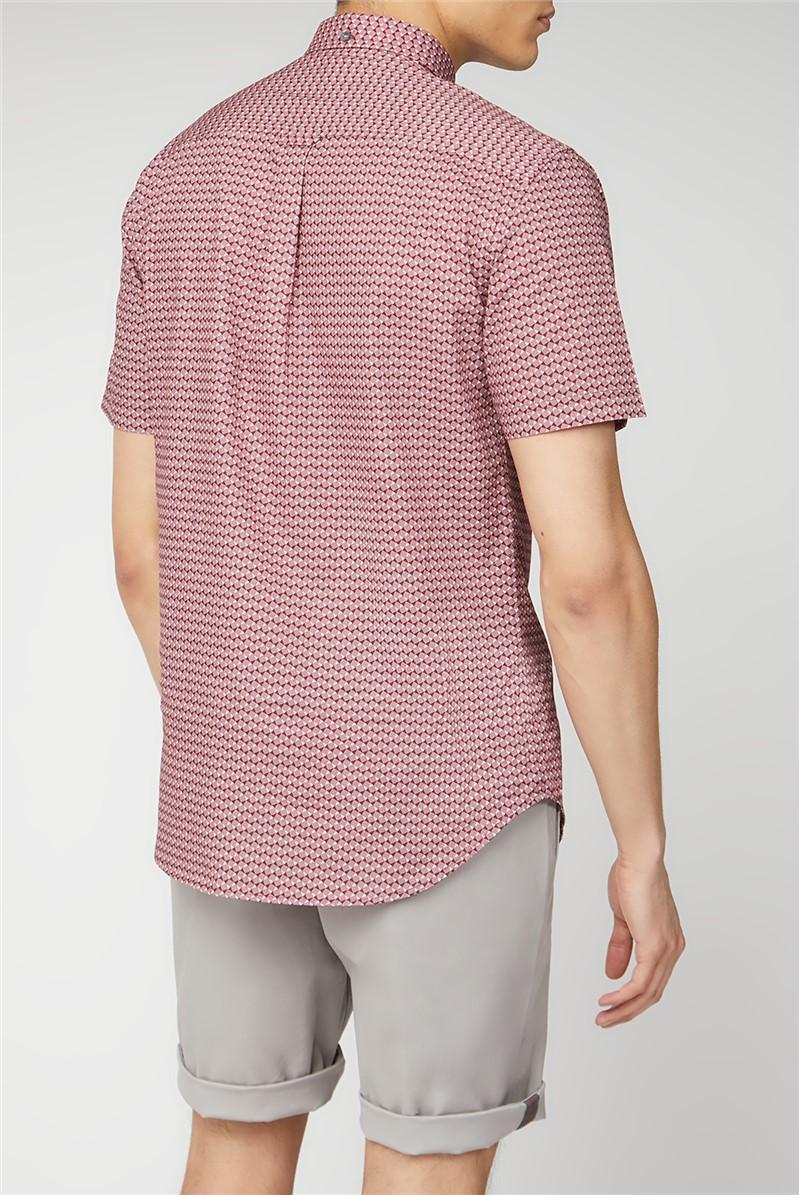 Wine Geo Short Sleeve Shirt