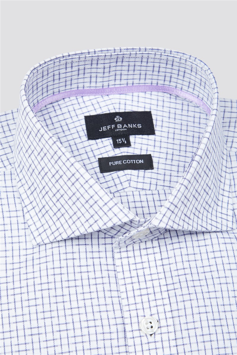 London White Squares Check Shirt