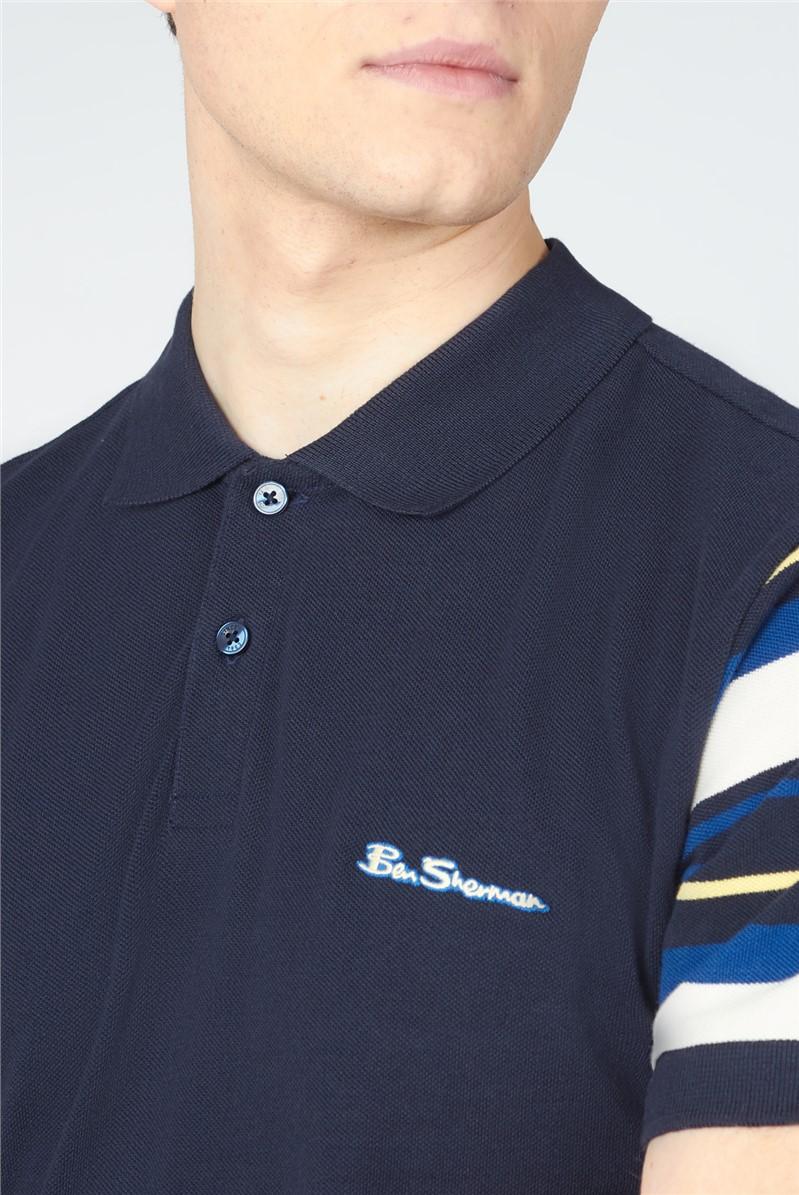 Sleeve Stripe Polo Shirt