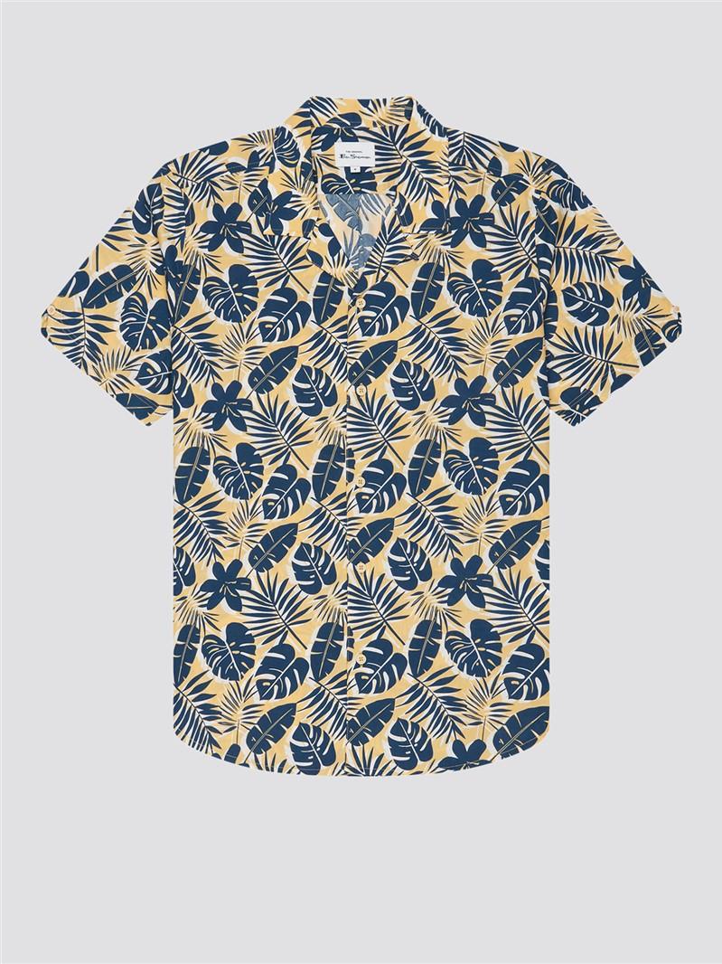 Botanical Silhouette Print Shirt