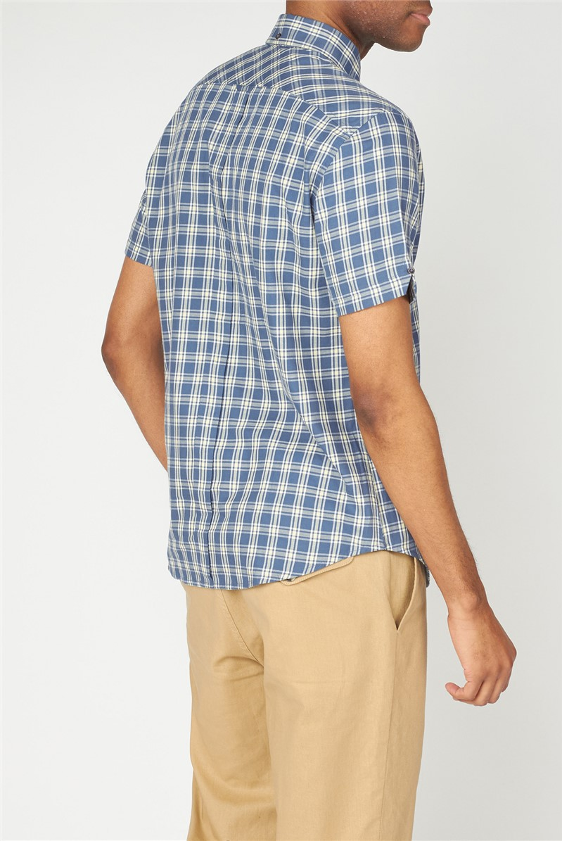 Laundered Twill Check Shirt