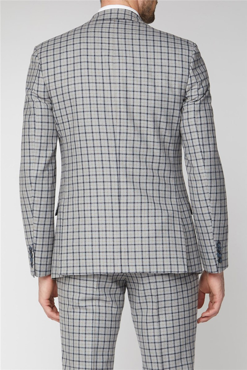 Grey with Navy Check Tailored Suit