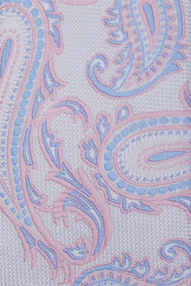 Light Pink Paisley Tie