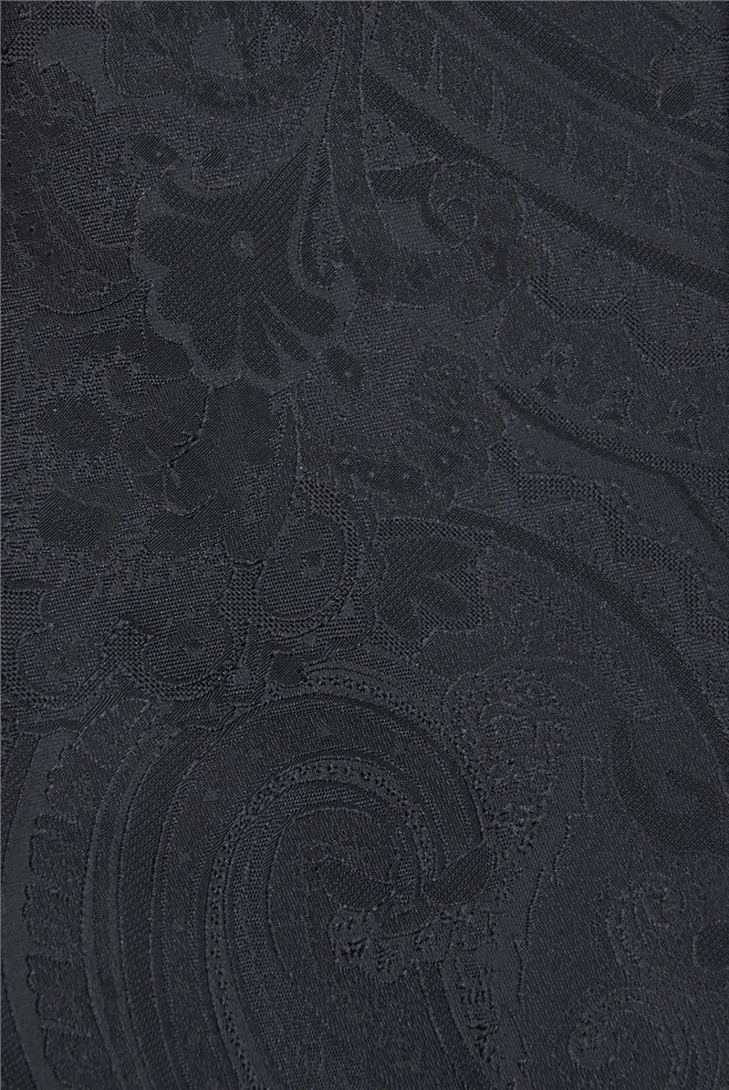 Black Tonal Paisley Tie