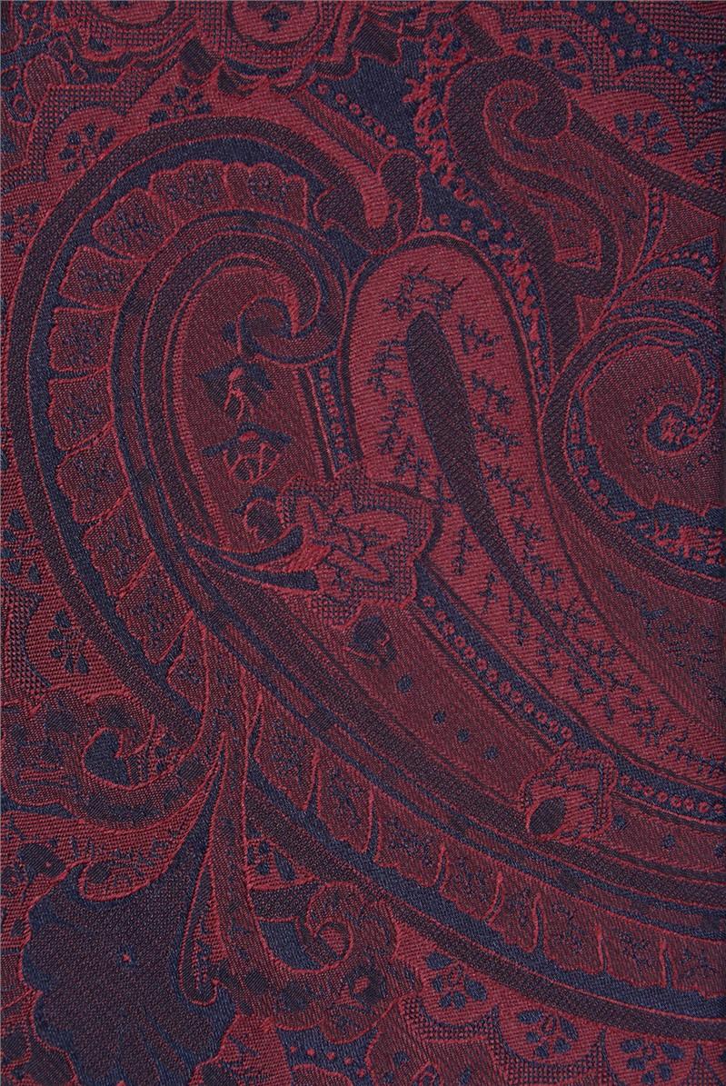 Red Tonal Paisley Tie