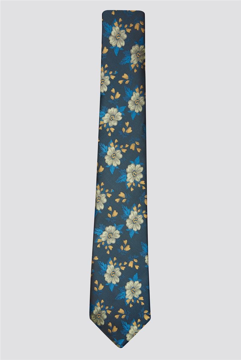 Gold Flowers Tie