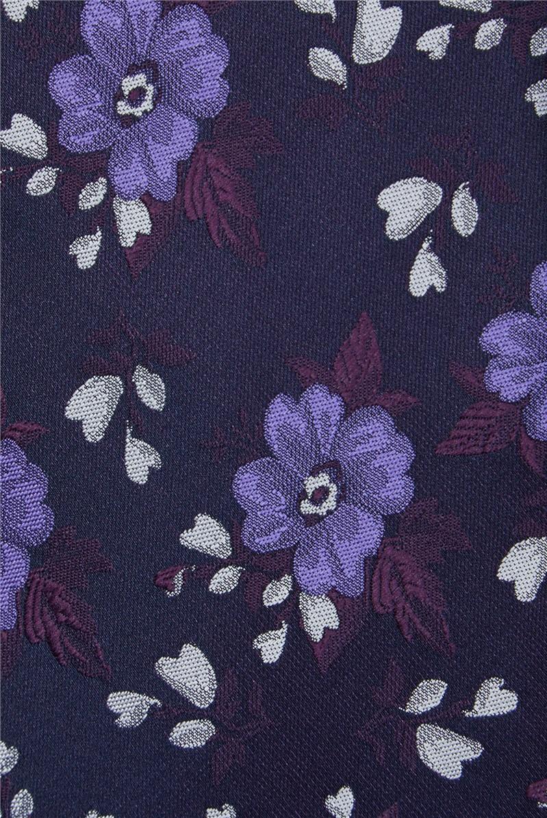 Purple Flowers Tie