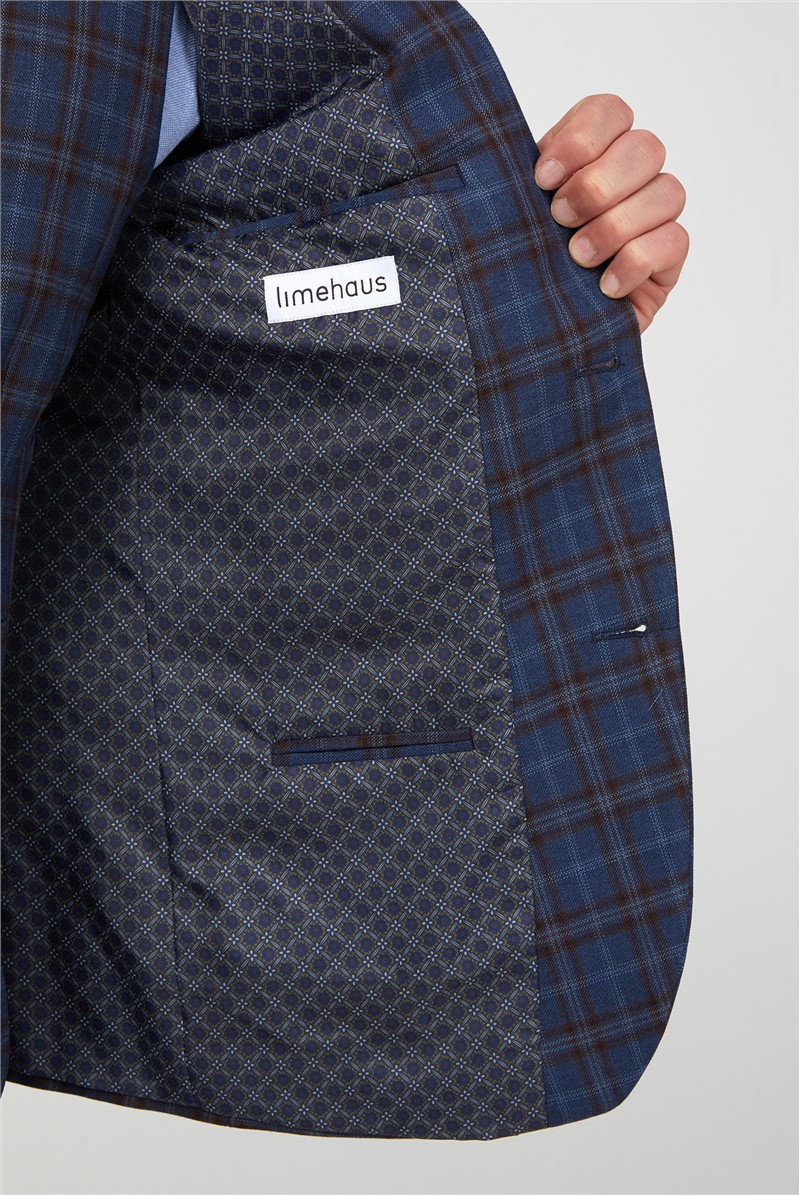 Blue with Warm Check Suit