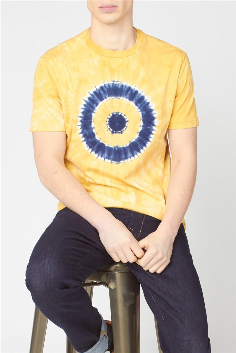 Yellow Tie Dye Target Tee
