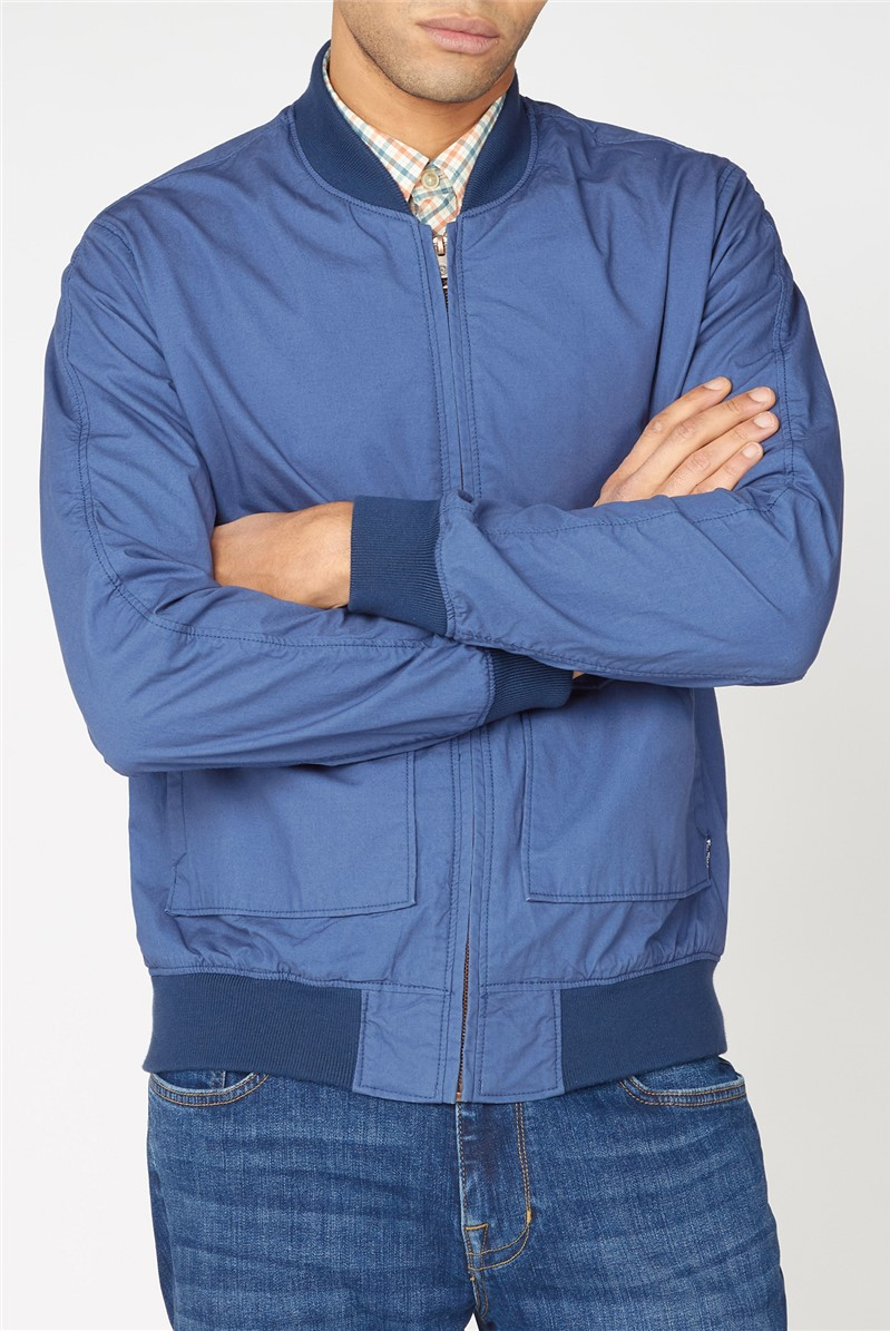 Laundered Indigo Bomber Jacket