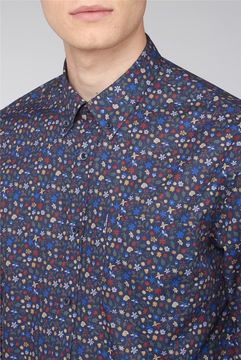 Long Sleeve Multicolour Floral Print Shirt