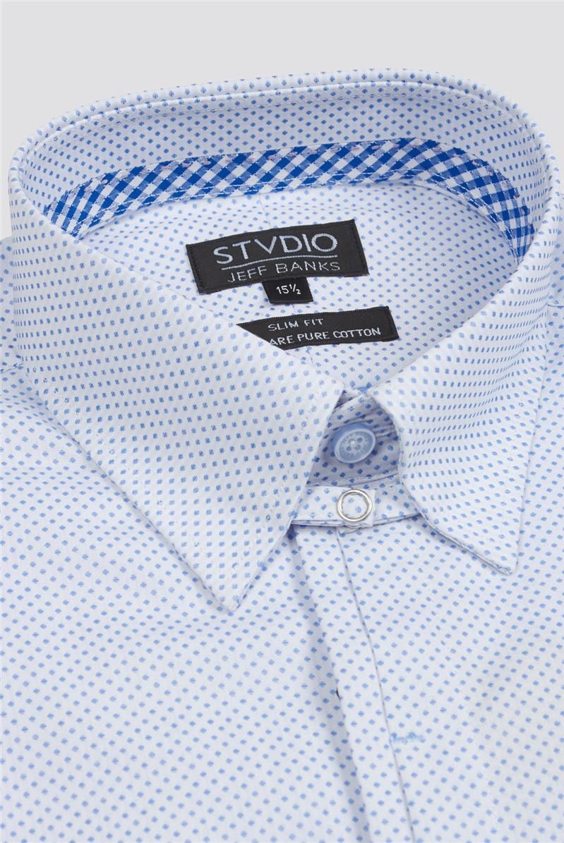 Stvdio White Spot Dobby Formal Shirt