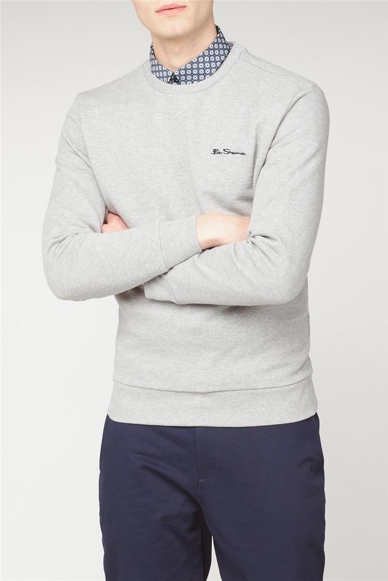 Crew Neck Sweatshirt with Embroidered Logo