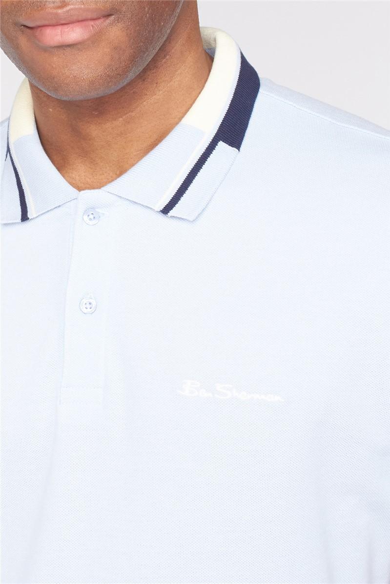Colour Block Collar Pique Collar