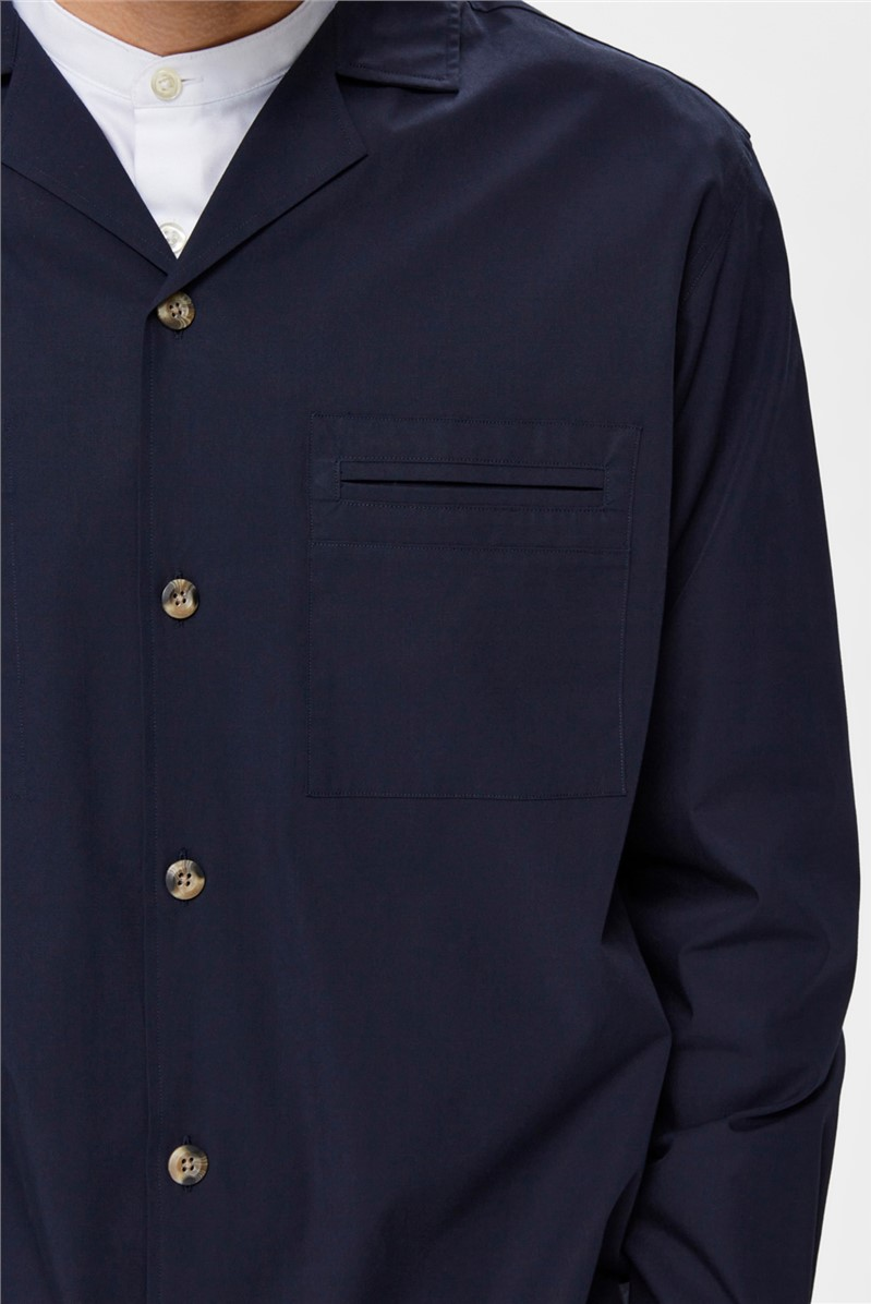 Morton Overshirt in Navy
