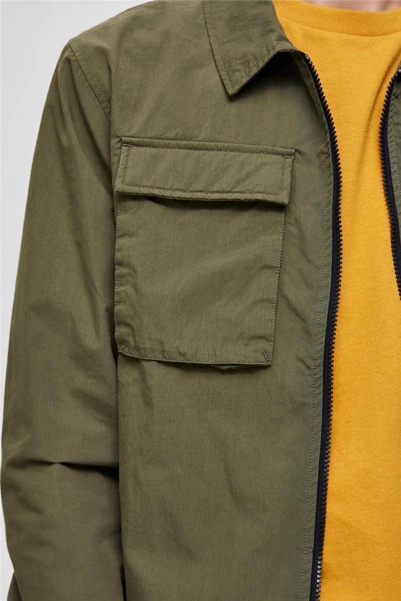 Niles Shirt Jacket in Khaki