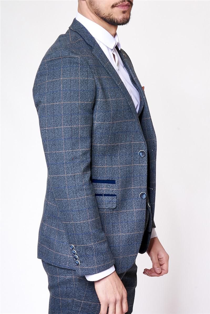 Scott Blue Tailored Fit Suit Trousers