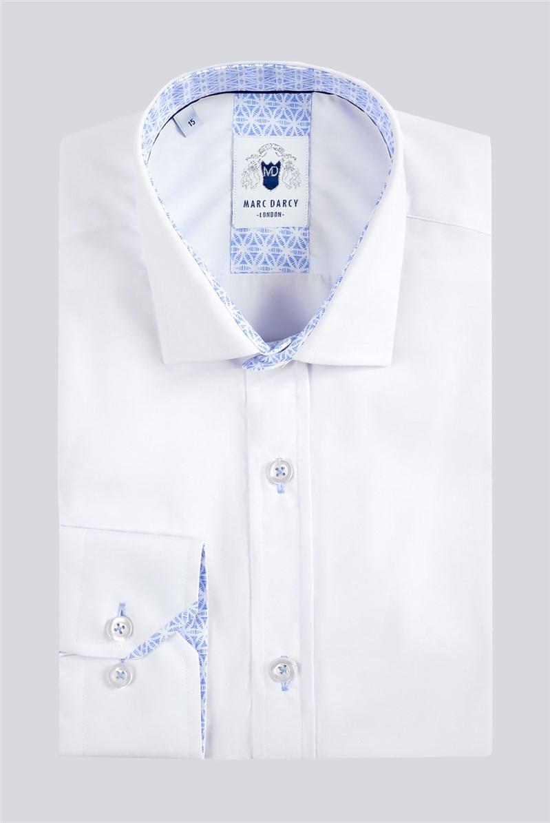 Sergio White Classic Fit Shirt