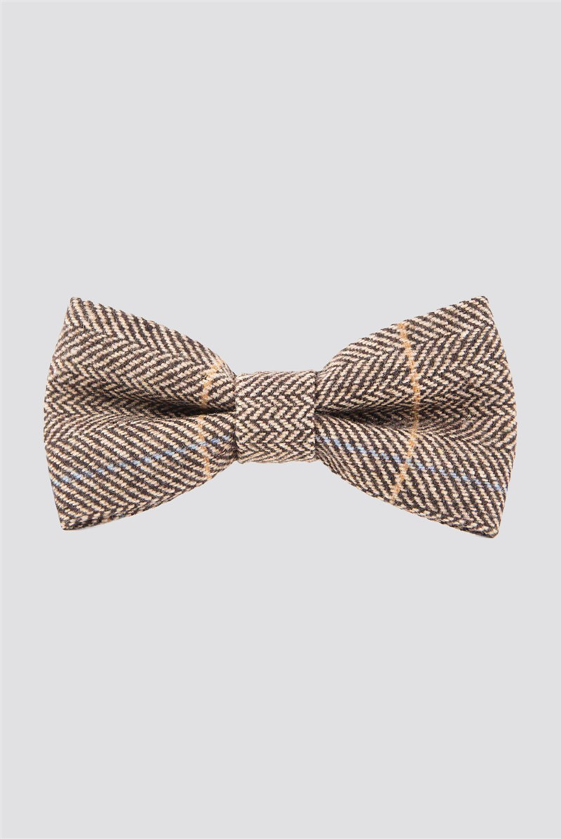 DX7 Tan Check Bow Tie