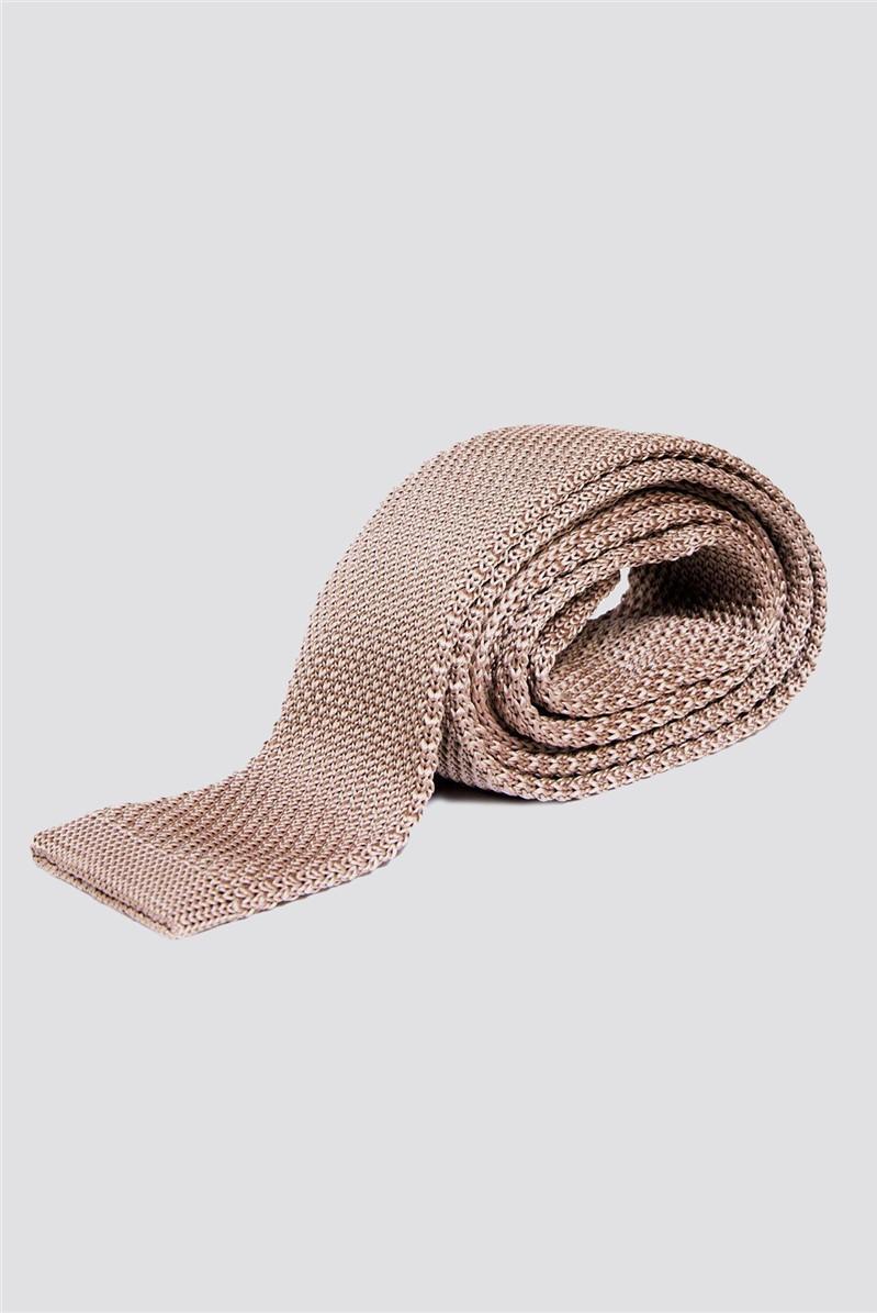 Dark Tan Knitted Tie