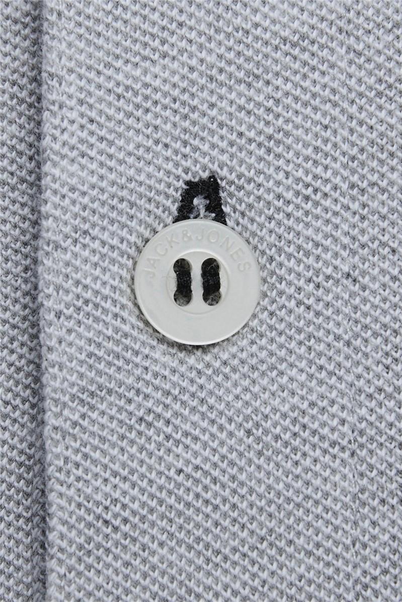 Grey Logo Polo Shirt