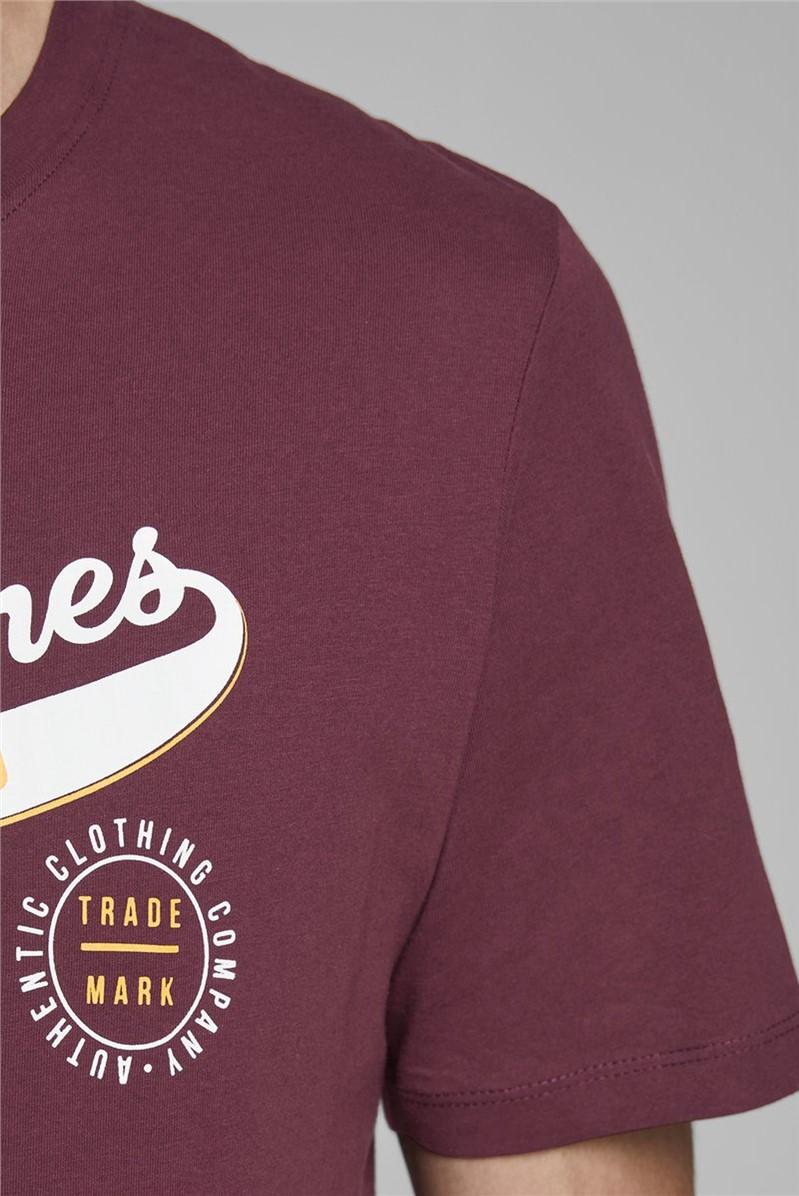 Burgundy Logo Print T-Shirt