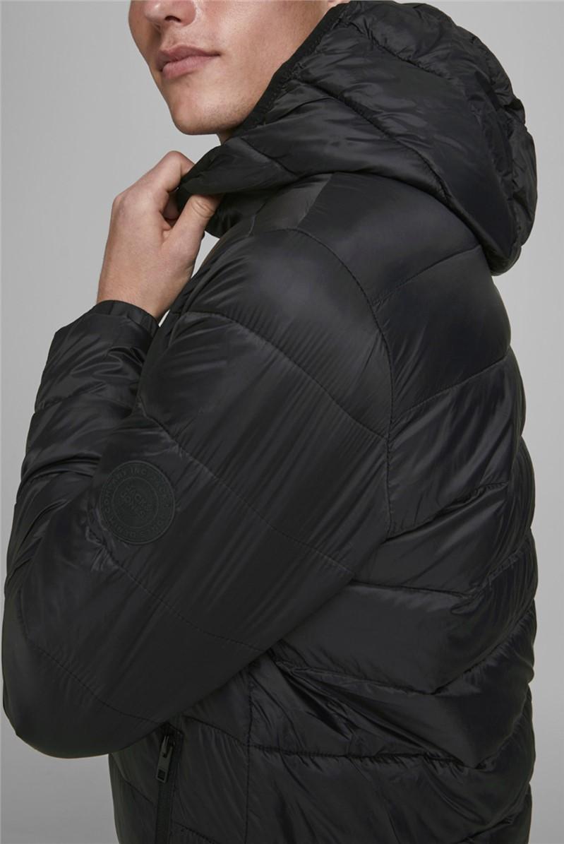 Black Hooded Puffer Jacket