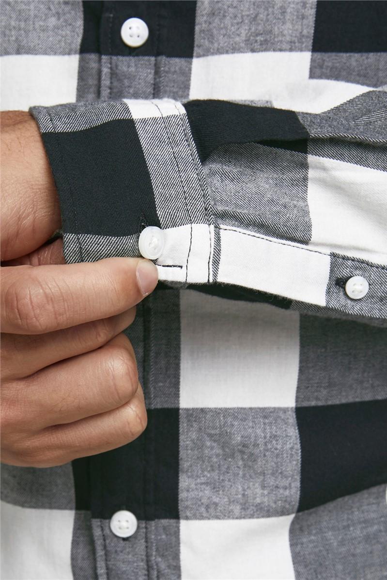 Black and White Checked Shirt