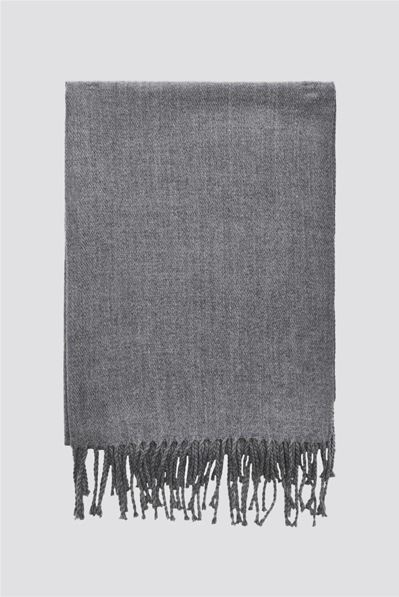 Grey Woven Scarf