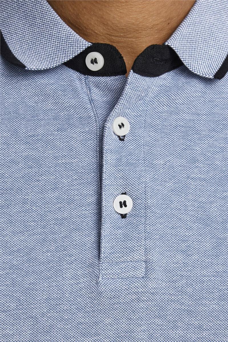 Cobalt Blue Logo Polo Shirt