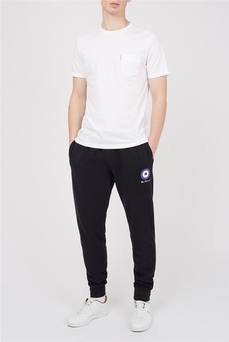 Black Target Logo Joggers