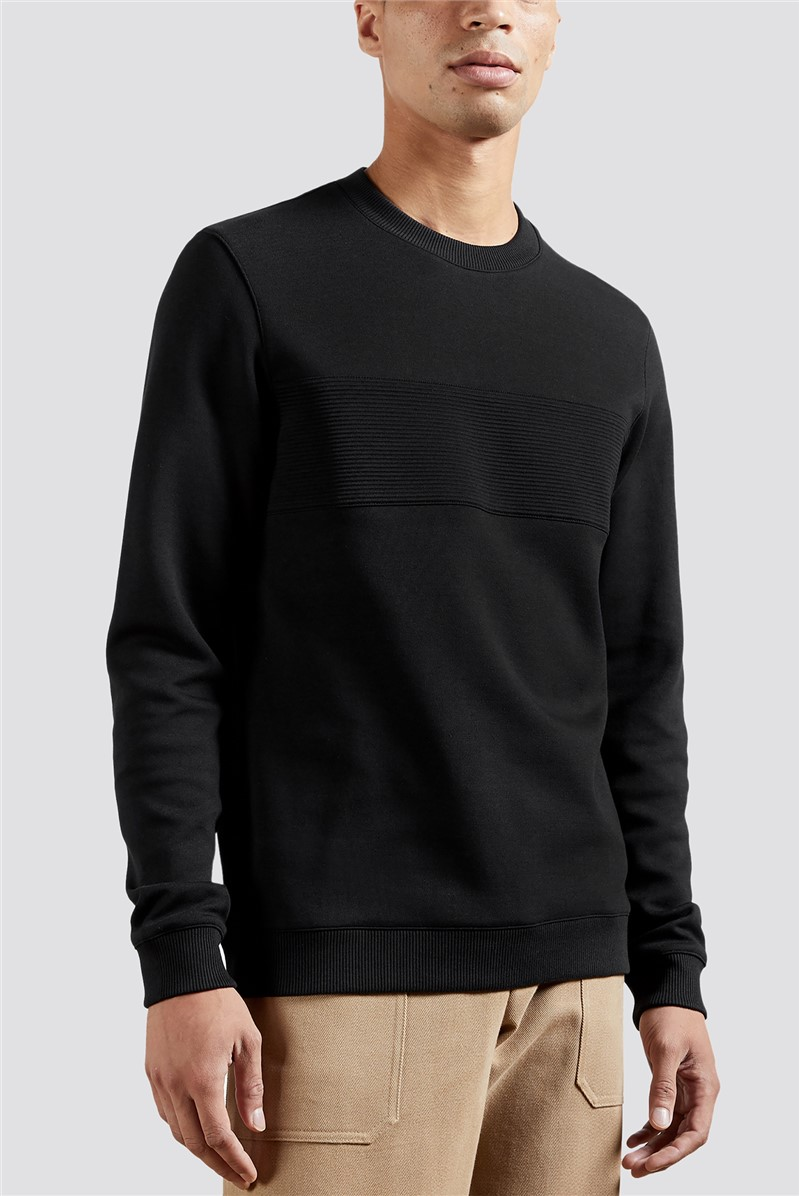 Black Panel Sweatshirt