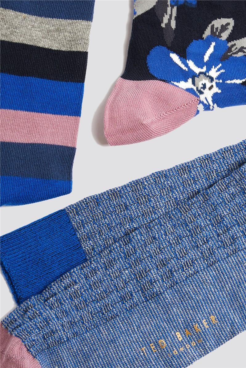 Three Pack Assorted Socks