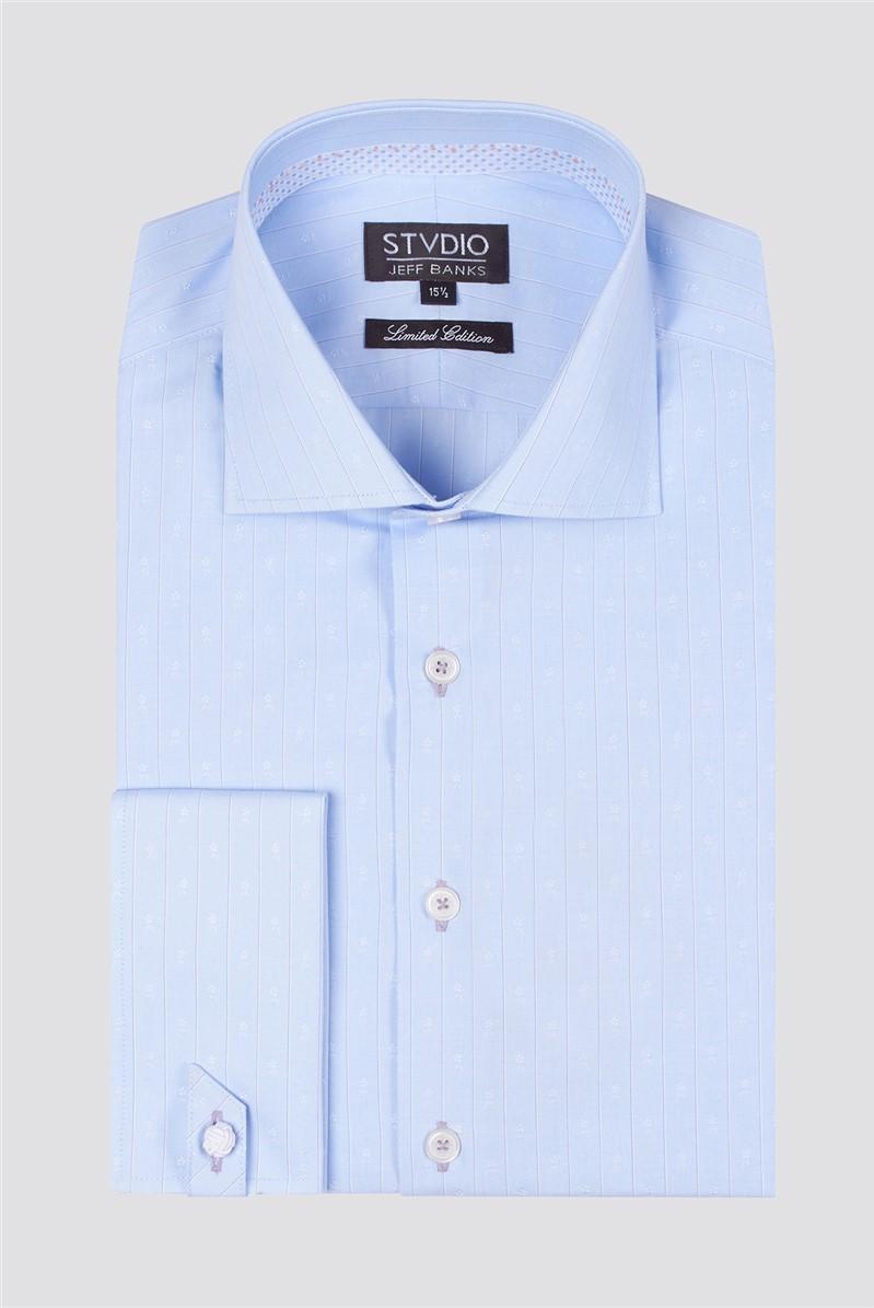 Stvdio Striped Floral Jacquard Shirt