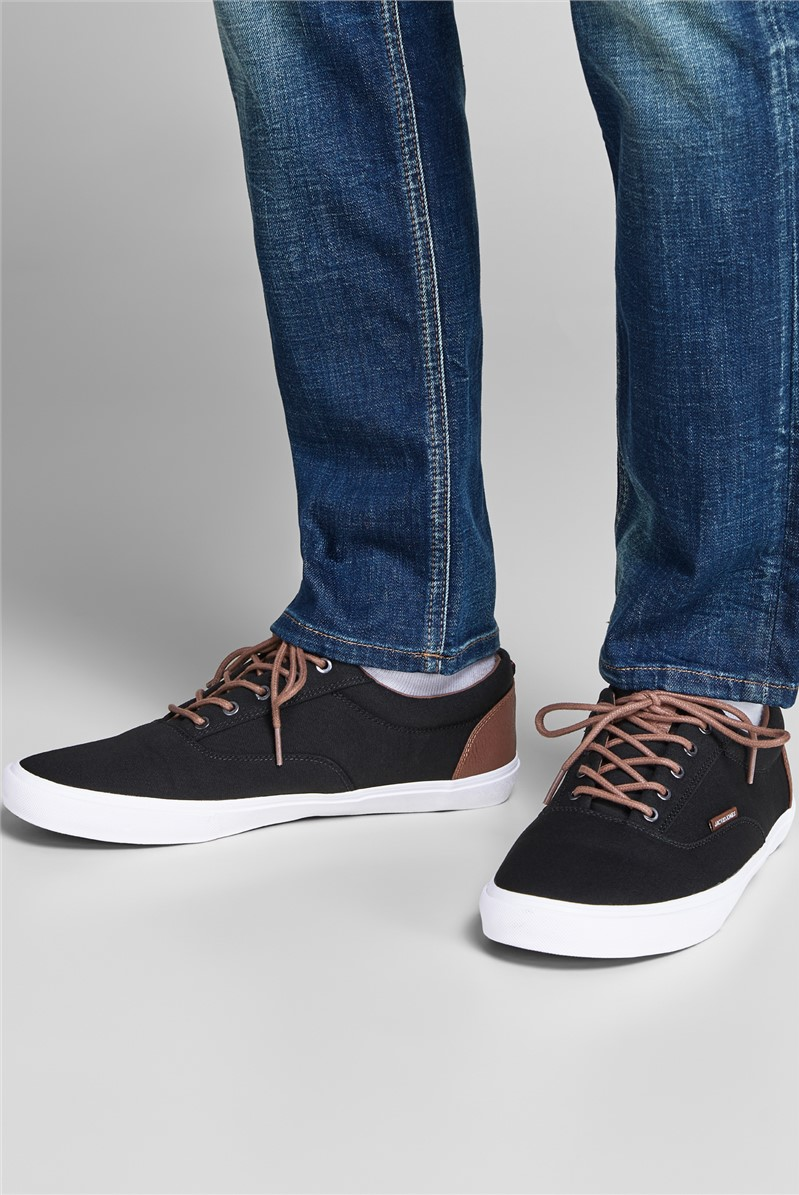 JJ Vision Canvas Navy Trainers
