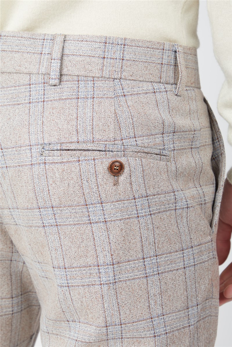 Cream Tweed with Taupe Overcheck Trouser