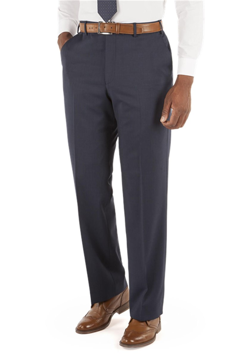 Navy Small Effect Trousers