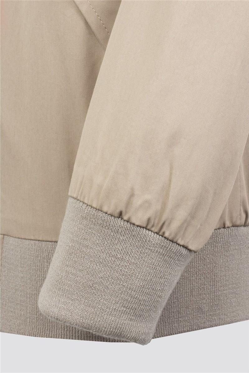 Stone Cotton Harrington Jacket