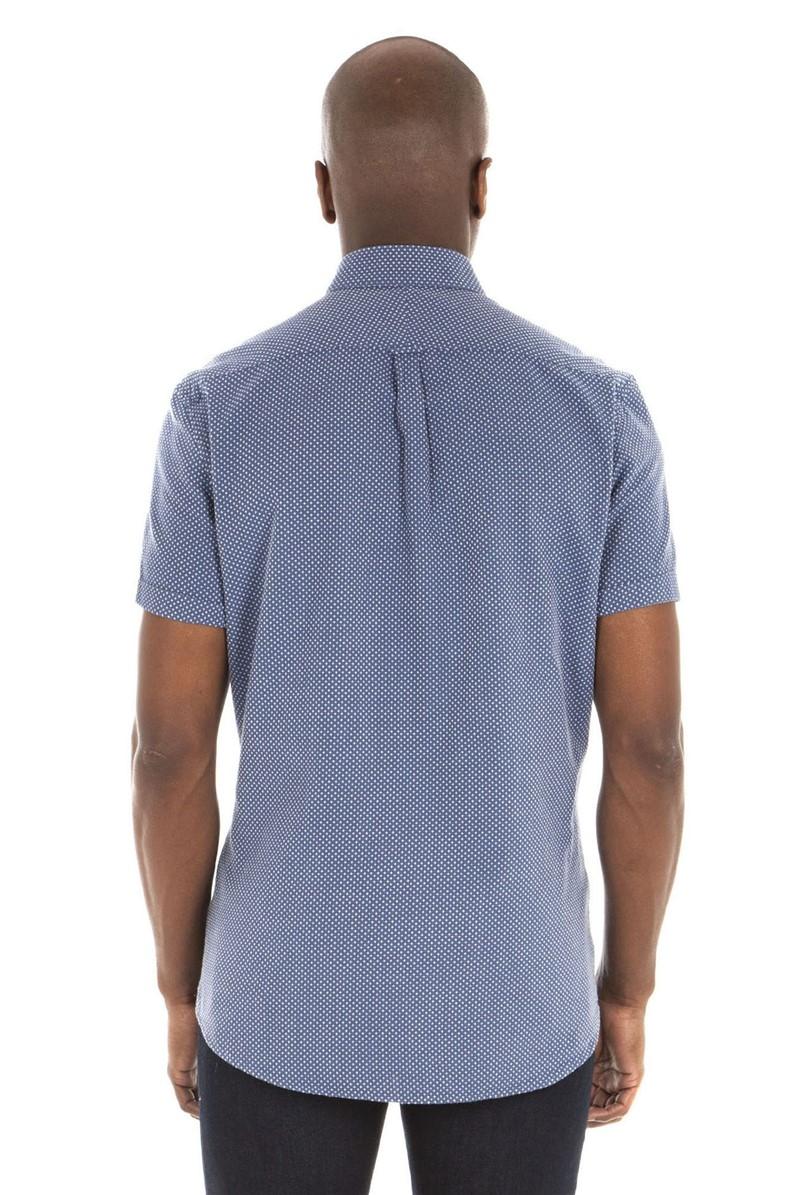 Denim White Cross Shirt