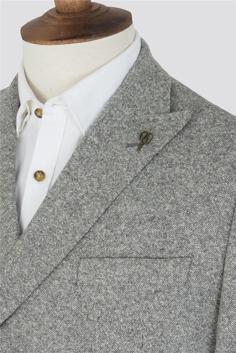 Grey Donegal Double Breasted Jacket