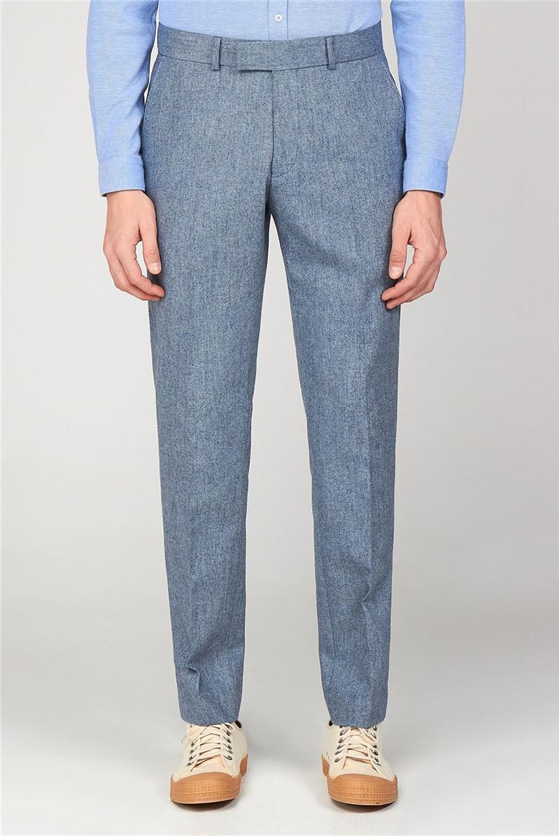 The Bayswater Blue Tweed Men's Slim Fit Trousers