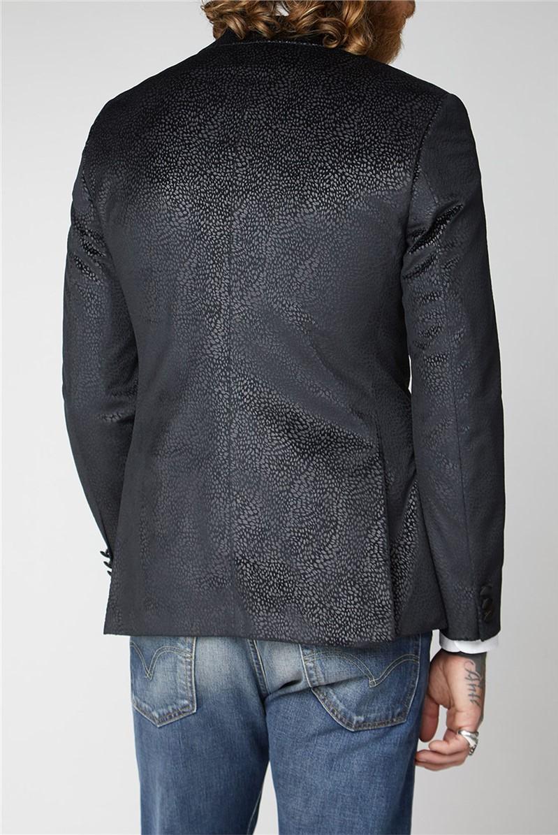 Black Velvet Jacquard Jacket