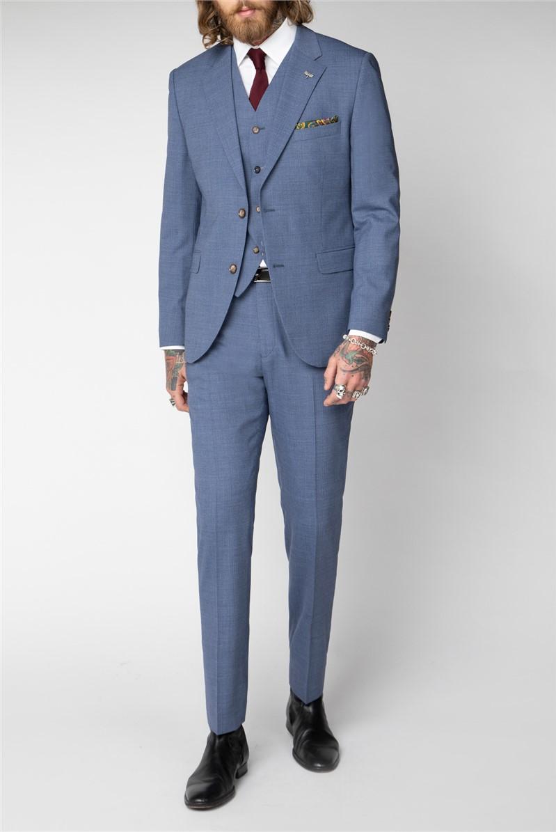 Pale Blue Plain Suit
