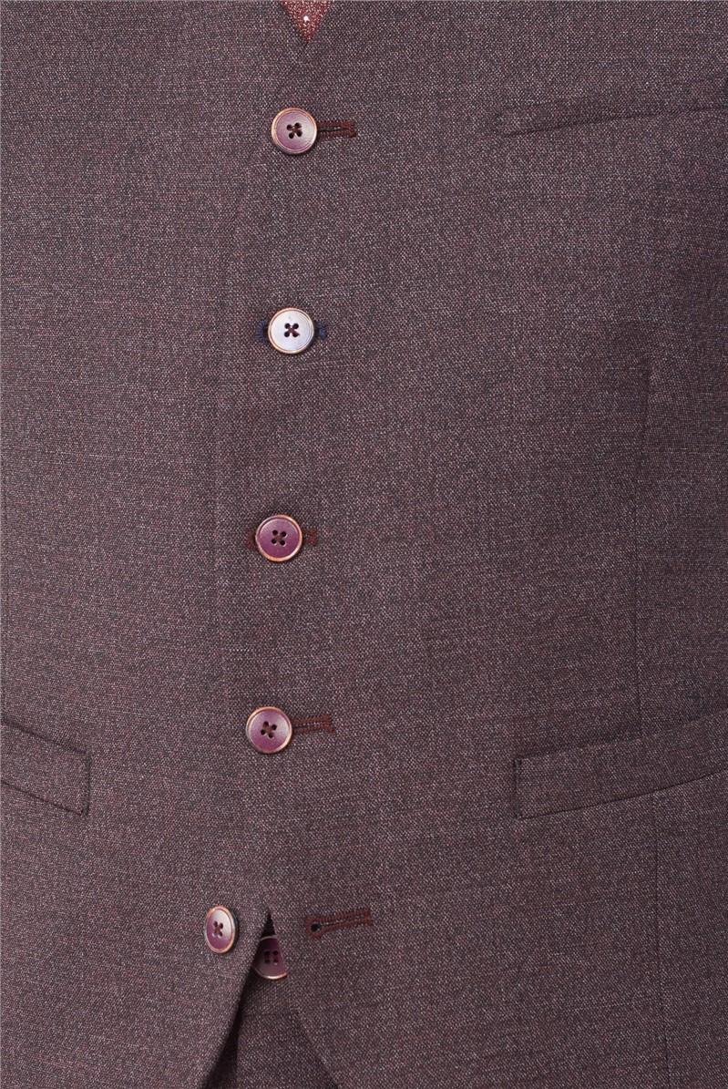 Burgundy Mouline Plain Suit