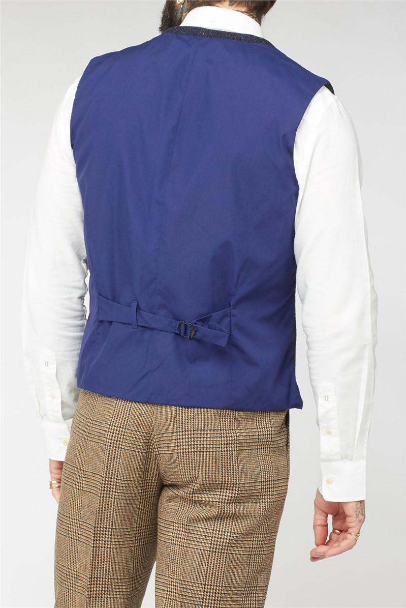 Navy Shetland Coat