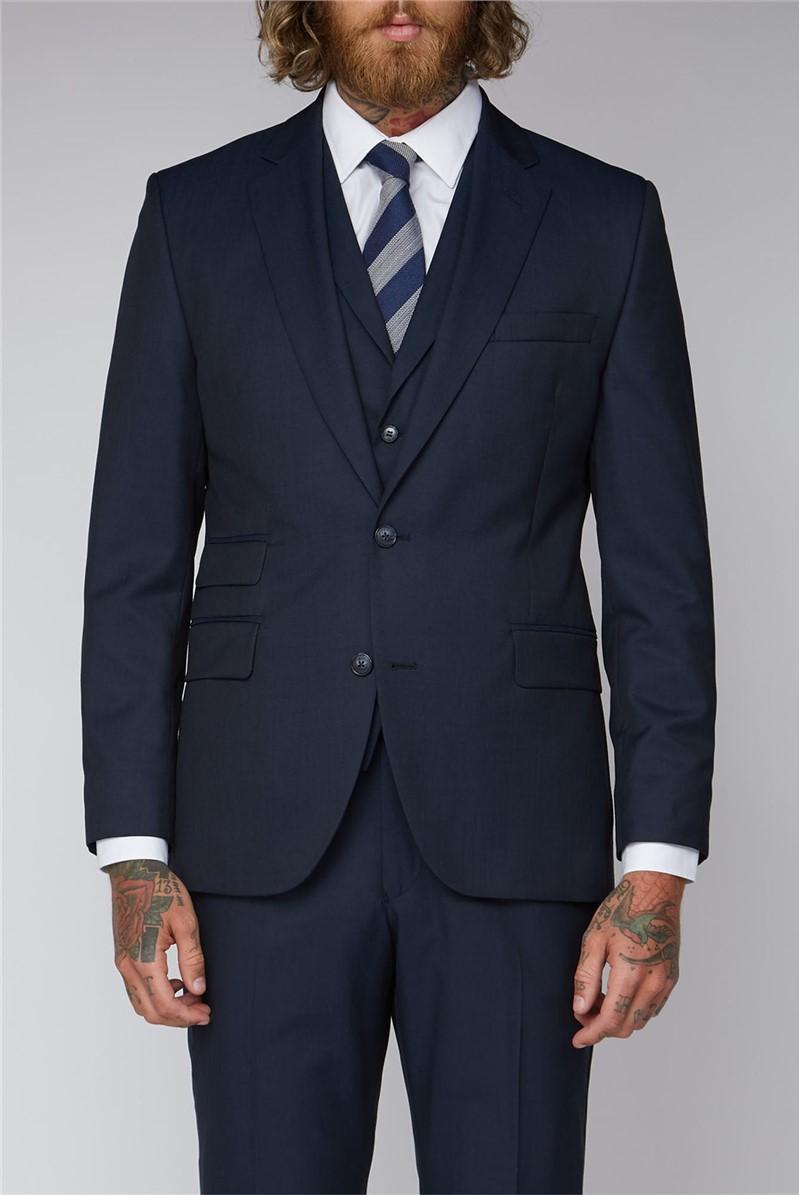 Navy Twill Slim Fit Suit