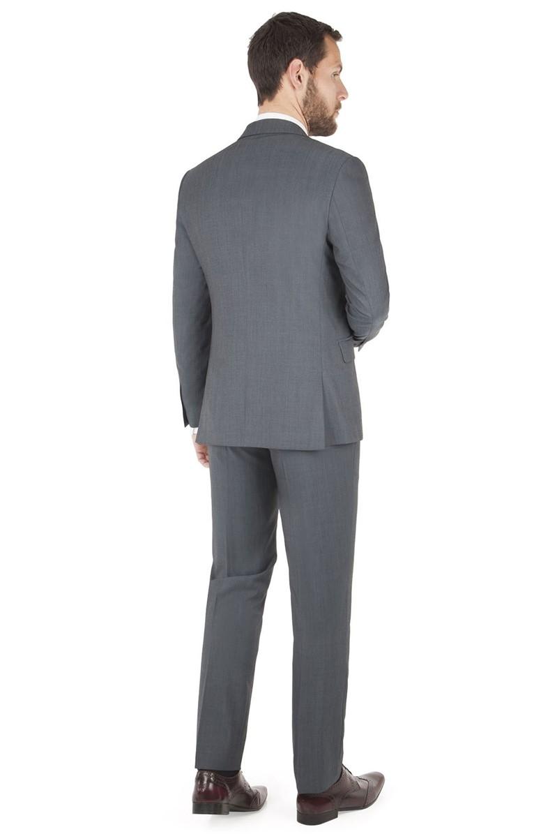 Blue Twill Slim Fit Suit Jacket