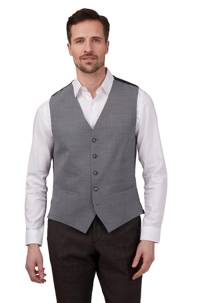 Essentials Grey Semi Plain Suit