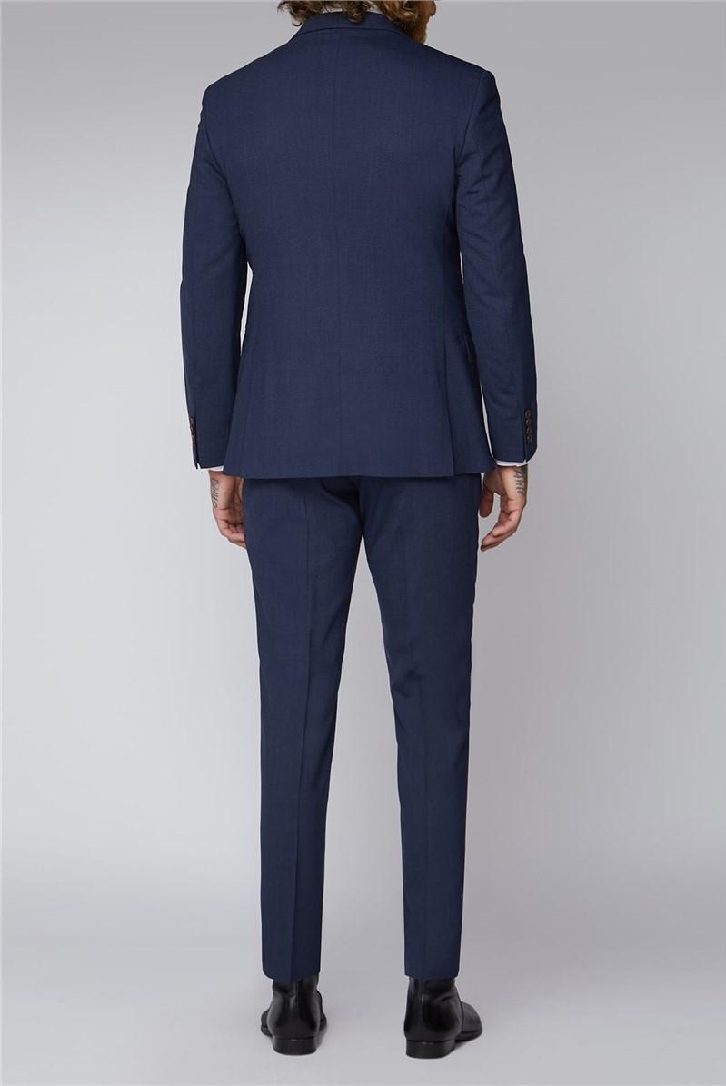 Blue Semi Plain Waistcoat