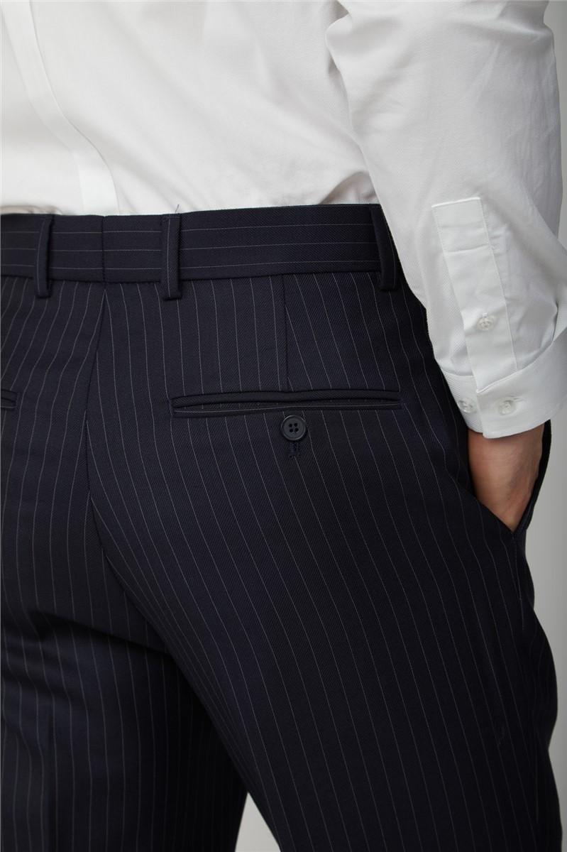 Navy Pinstripe Trouser